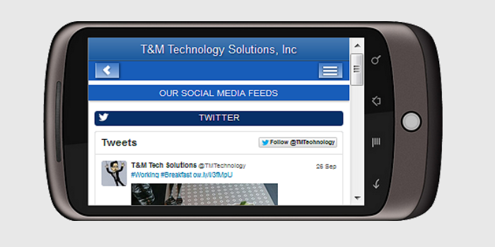 T&M Technology's Mobile Website