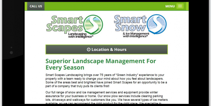 Smart Scapes Landscaping and Smart Snow & Ice Removal are Now Mobile