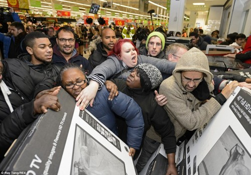 Bacl-Friday Crowds Why Do They Call It Black Friday
