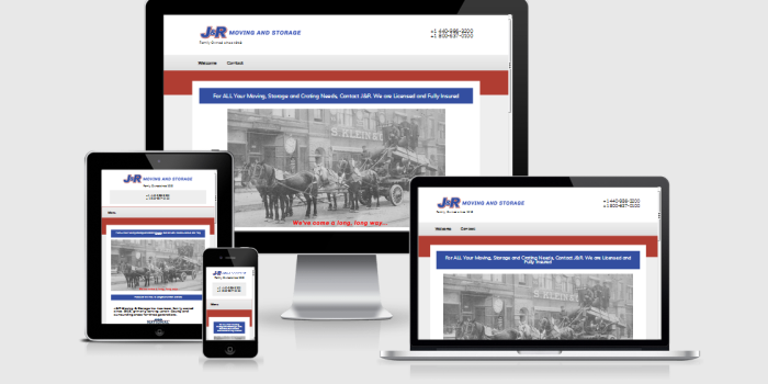 J&R Moving and Storage Responsive Website Design