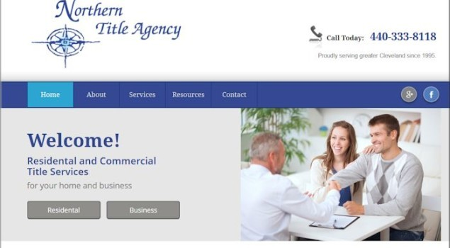 Northern Title Agency of Rocky River Using Responsive Website